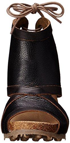 FLY London ADYE619FLY, A Talon Composé femme Noir (Mousse Sebta Black/Black)