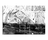 Sinus Art Abstrakt 1394-120x80cm SCHWARZ-WEISS Bilder - Wandbild Kunstdruck in XXL Format - Fertig Aufgespannt – TOP - Leinwand - Wand Bild - Kunst Bild - Wandbild abstrakt XXL