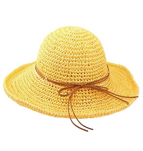 Urbancoco Damen klappbare Kappe flexible Sommer Strand Sonne Hüte ()