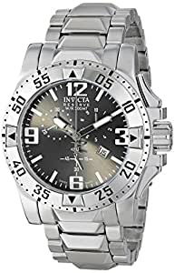 Invicta Men's Quartz Watch with Black Dial Chronograph Display and Silver Stainless Steel Bracelet 5675