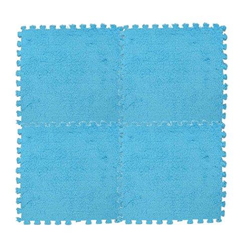 samLIKE 30 * 30 cm Kinder Teppich Schaum Puzzle Matte EVA Shaggy Samt Baby Eco Floor7colors (D)