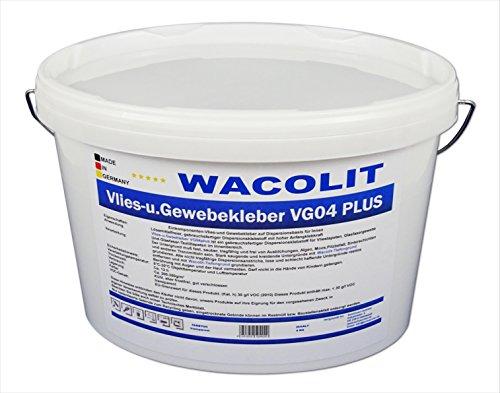 4 kg WACOLIT Vlies- u. Gewebekleber, Fertig-Kleber für Vliestapeten Renoviervlies Malervlies u. Glasfasergewebe