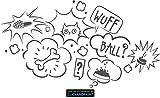 CLICKANDPRINT Aufkleber » Gedanken deines Hundes, 40x21,8cm, Dunkelgrau • Wandtattoo / Wandaufkleber / Wandsticker / Wanddeko / Vinyl
