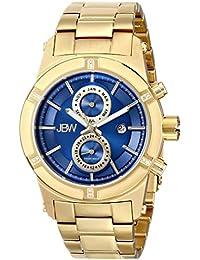 JBW  J6263H - Reloj de cuarzo para hombre, con correa de acero inoxidable chapado, color dorado