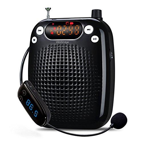 WINBRIDGE S328 INALAMBRICO MICROFONO FM ESTEREO Y TRABAJOS DE AMPLIFICADOR DE VOZ PORTATIL CON RADIO TF/U DISCO DE SOPORTE GIRA PARA GUIAS  TEAC RESTAURATIVO  ENTRENADORES  PRESENTATIONS  TRAJES  ETC