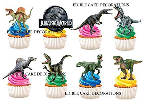 30x Jurassic Party Stand up Essbare Papier Cupcake Topper Kuchen Dekorationen