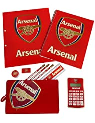 Arsenal F.C Officially Licensed 10 Piece Stationery Set With Calculator rrp£12