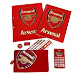 Arsenal F.C Officially Licensed 10 Piece Stationery Set With Calculator