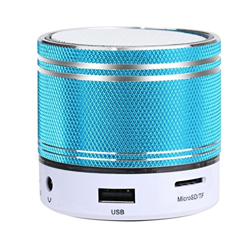 Transer® Nuevo Moda Mini portatil Wireless Stereo Bluetooth altavoz para iPhone Tablet PC (Azul)