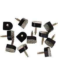 Footful 6 Paire Plaques de Talon Pour Chaussure à Haut Talons 14,5 x 17,5 mm 611 Style - Noir
