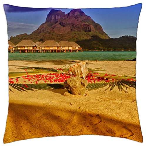 golden-sun-on-bora-boras-sands-throw-pillow-cover-case-18-x-18