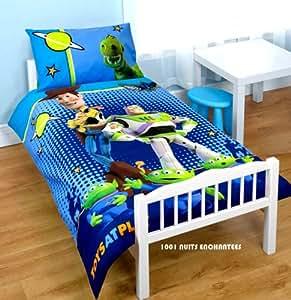 Parure de lit bébé housse de couette + taie TOY STORY Disney
