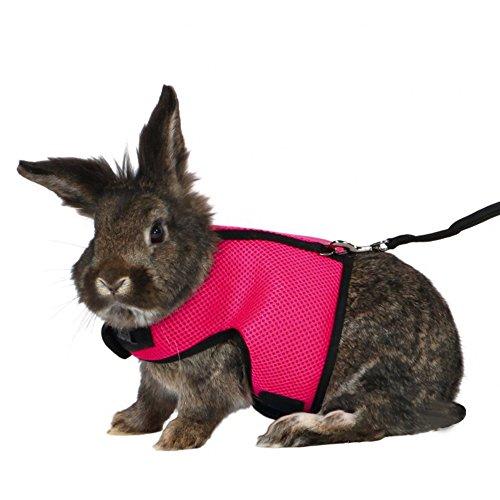 Lazzykit Kleintiergarnitur Kleintiere Weste für Kaninchen Meerschweinchen Hamster Nylon Leine Geschirr Set S M L