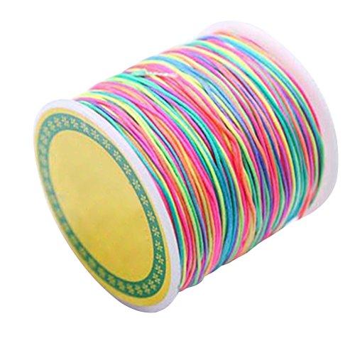 kherstellung Schnur Perlen Kordel 1mm elastische bastelschnur für Armbänder Halsketten Schmuck Handwerk (Seil-armband-herstellung)