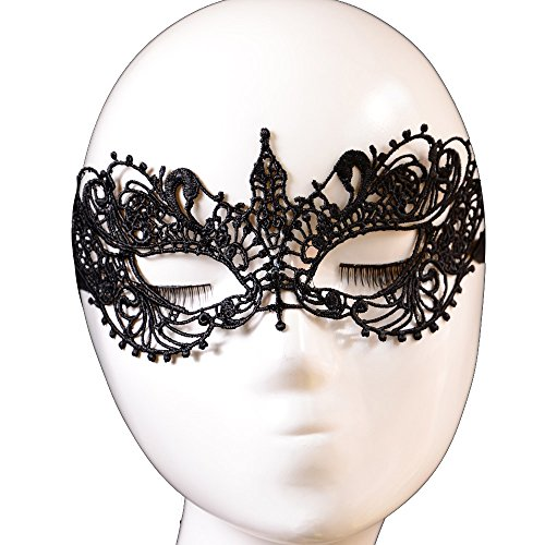 Yazilind-Masque-Hot-Lolita-gothique-de-partie-de-mascarade-fantaisie-robe-conception-Papillon-de-dentelle-noire
