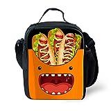 7-Mi Diseño 3D Caja de Almuerzo de Los Niños Para la Escuela Unisex Comida Aislada Tote Bolsa de Almacenamiento Titular de la Botella de Agua Hot Dog Para viajes