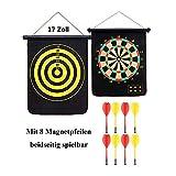 Bai You Mei Magnetische Dartscheibe mit vielen Magnetpfeilen 2 Spielvarianten Dartscheibe Wurfspiel für die Kinder und Eltern Dartspiel