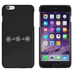 Idea Regalo - Azeeda Nero 'Ghirlanda di Margherite' Custodia / Cover per iPhone 6 & 6s Plus (MC00112655)