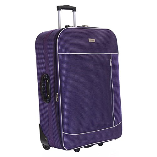 Slimbridge rennes xl 77 cm valigia espandibile con 3 anni di garanzia, viola