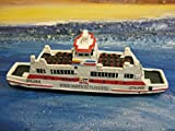Schiffsmodell MS Uthlande Wyk Boot Schiff ca. 12 cm