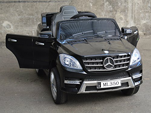 Mercedes Benz ML 350 Kinder Elektro Auto - Original Lizenz Daimler - Vollausstattung - LED Beleuchtung - Vollgummi - USB - Bluetooth - Kinderauto