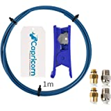 Ceality 1 Meter Capricorn XS Series PTFE Bowden Tubing Low Friction with 2PCS Large and Small Pneumatic Couplers for 1.75mm 3