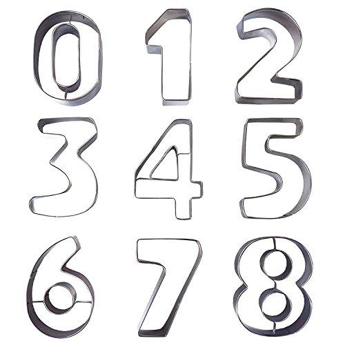 phabet Buchstaben Ausstechformen Ausstecher Set Plätzchenformen aus Edelstahl Metall perfekt für Keks,Backen Fondant Plätzchen,Tortendekorationen (Zahlen) (Mini-halloween-ausstechformen)