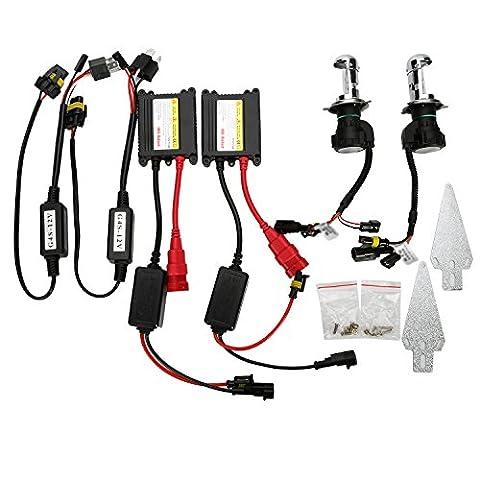 [OSAN] H4 H4-3 HID Kit XENON Kit Nachrüstsatz Auto Scheinwerfer Lampe Birne Hi/Lo (55W, Lichtfarbe:6000K)