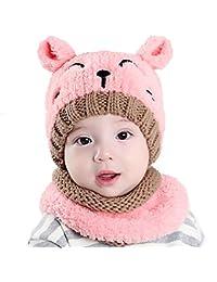 Tukistore Inverno del bambino delle ragazze dei capretti dei ragazzi di  lana caldo sciarpa ricopre i cappelli piccole… d2d81cc3c4c4