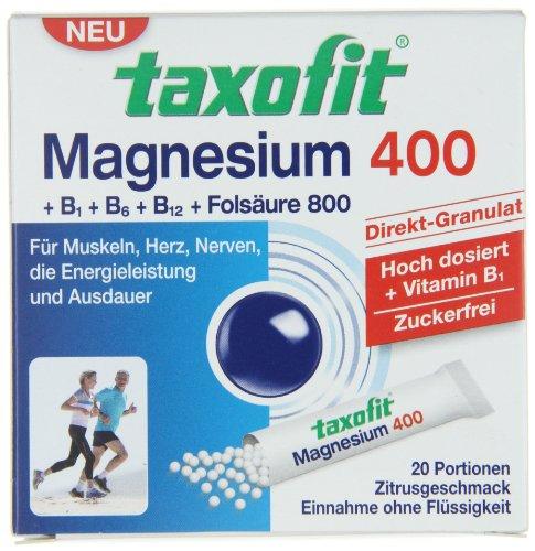 Taxofit Magnesium 400 Direct, 20 Portionen, 1er Pack (1 x 40 g)