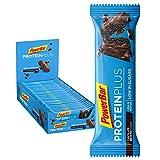 PowerBar Protein Plus reep met slechts 107 Kcal - Low Sugar eiwitgrendel, fitnessriem met ballast - Chocolate Brownie, 30 x 35 g
