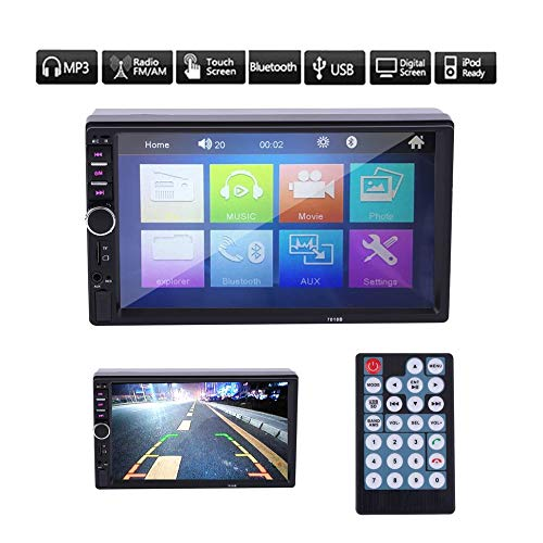 7 \'\' In Dash LCD HD Touchscreen Autoradio MP5 Player AUX Silber & Schwarz