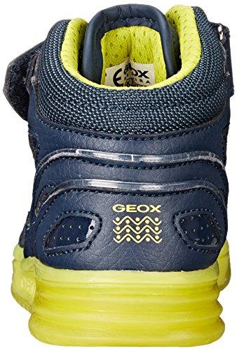 Geox J Argonat C, Sneakers Hautes Garçon Blau (NAVY/LIMEC0749)