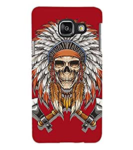 Printvisa Premium Back Cover Skull With Egyptian Head Gear Design For Samsung Galaxy A3 (2016)::Samsung Galaxy A3 (2016) Duos with dual-SIM card slots