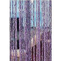 SDYDAY 1 x 2 m de borla cadena cuentas flecos para colgar cortina divisor puerta ventana panel pared hogar oficina decoración, Morado claro, Tamaño libre