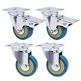 GBL - 4 Möbelrollen 50mm Transportrollen Lenkrollen mit Bremse Schwerlastrollen Rollen für Möbel … (Rollen)