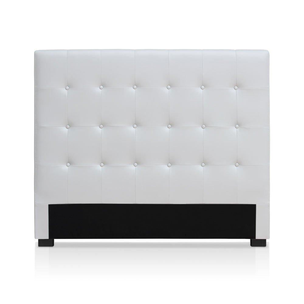 intensedeco intense d co t te de lit capitonn e premium 140cm blanc inspid co. Black Bedroom Furniture Sets. Home Design Ideas