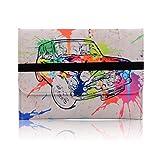 Housse Apple Macbook Pro 15 pouces Retina - Sacoche ordinateur portable Etui protection Pochette feutre mou - violet pourpre noir vert sac imprimé motifs fleurs- couverture feutre mou - Colored car