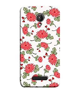 PrintVisa Designer Back Case Cover for Micromax Canvas Spark Q380 (Illustration Decorative Ornamental Ornament Repetition Wallpaper Beautiful Abstract)