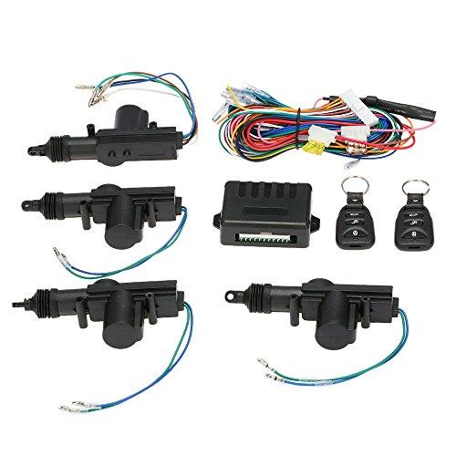 KKmo Auto-Türschloss Keyless Entry System Fernbedienung Zentralverriegelung mit Trunk Release Button Universal Universal-keyless-entry-system
