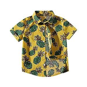 Camisa Manga Corta Bebé-Niños Camisa Hawaiana Imprimir Shirt Tops Blusa 16