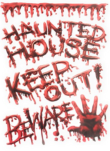 Nantucket Home Halloween Themed Vinyl Fenster klammert Sich an Haunted House - Nantucket Vinyl