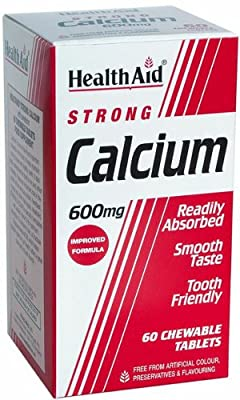 HealthAid Calcium 600mg - Chewable - 60 Vegetarian Tablets from HealthAid