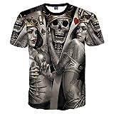 New Fashion Skulls T-Shirt Männer/Frauen 3D T-Shirts drucken Metall Schädel Braut Bräutigam Hip Hop T shirt Tops T-Stücke T-Shirt, 01, Asien XXXXL