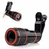 Phone camera Lens kit, universale 12x Zoom ottico monoculare esterna teleobiettivo con clip universale per iPhone 7/7Plus/6/6S Plus/se, LG, HTC, Huawei, Samsung e altri smartphone
