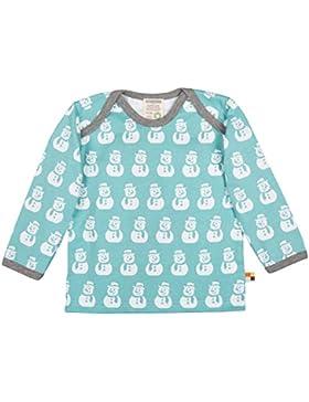 loud + proud Baby Langarm Shirt mit aufgedruckten Schneemännern (Wasserbasierender Druck). Bio Baumwiolle. GOTS...