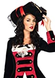 Leg Avenue 2098 - Piraten Hut, schwarz, Einheitsgröße, Damen Karneval Kostüm Fasching