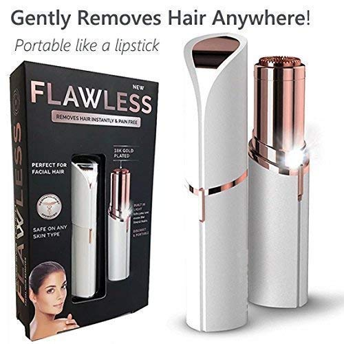 KBF Flawless Epilator Wax Finishing Touch Flawless Hair Remover Razor Women Body Face Electric facial hair removal tool Hair Removal Painless Lipstick Shaving Tool Lipstick Shape Painless Electronic F