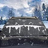 Windschutzscheibe Schneedecke, Frontscheibenabdeckung Auto - Eis Sonne Schnee Frost und Wind Wetter, Eignet für die Meisten Fahrzeuge