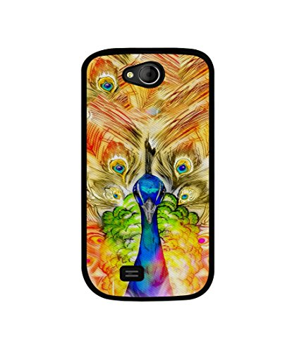 Casotec Colorful Joy Pattern Design Canvas Printed Soft TPU Back Case Cover for Micromax Canvas Elanza A93  available at amazon for Rs.349